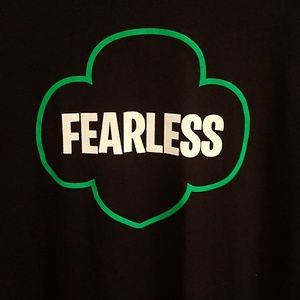 Fearless T Shirt Youth XL Black Green Graphic